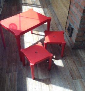 Стол и 2 стула икеа б/у