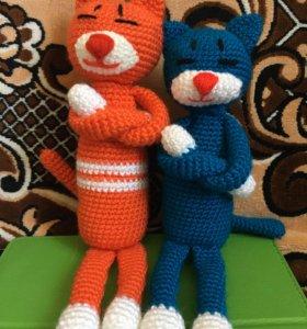 Мягкие игрушки коты