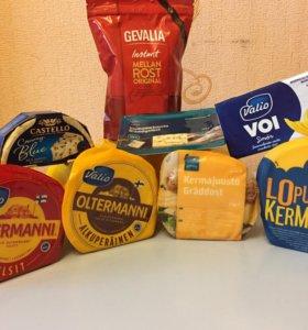 Сыр, кофе, масло