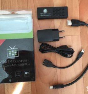 Мини ТВ приставка Android Smart TV MK808B Plus