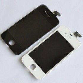 Дисплей iPhone 4s + тачскрин Белый/Чёрный Замена