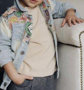 Джинсовая куртка детская джинсовка