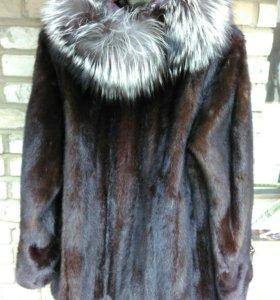 Шуба норковая,размер 54-58