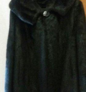 Шуба норка черная размер 46-50.