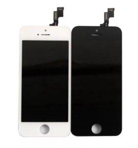 Дисплей iPhone 5s + тачскрин Белый/Черный Замена