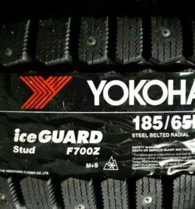 Новые зимние шины yokohama f700z 185 65 15 4шт