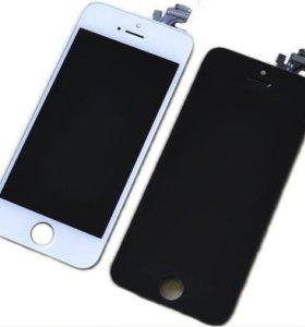 Дисплей iPhone 5 + Тачскрин Белый /Черный Замена