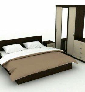 Спальный гарнитур Амур 6 предметов с матрасом