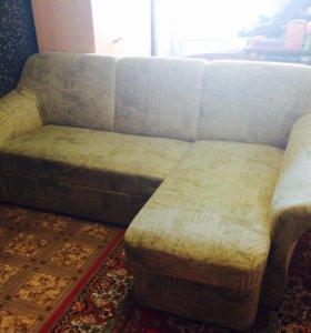 Продам угловой диван с креслом+ доставка