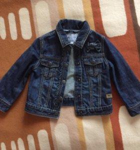 Джинсовая курточка на девочку 18м(86см)