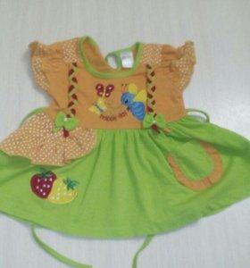 Платья ,размер 1-2,на девченку 1_1.5