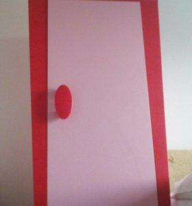Шкаф Икея розовый для девочки