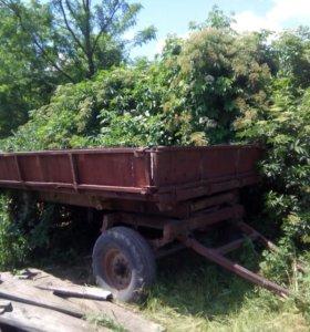Трактор юмз 6 с телегой