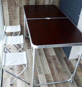 Стол кемпинговый складной 120х60 + 4 стула