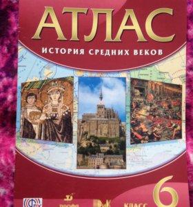 Атлас история средних веков 6 класс Фгос