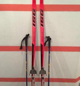 Лыжи и лыжные ботинки(возможен торг)