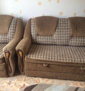 Продам диван+ кресло кровать