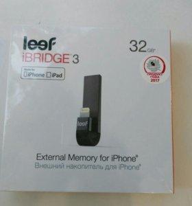 Флешка для айфона leef ibridge3