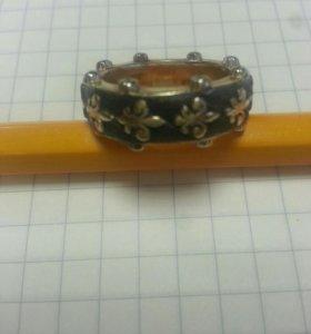 Золотое кольцо в стиле carerra эксклюзив