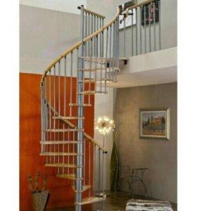 Винтовая лестница из бука, 1400 мм