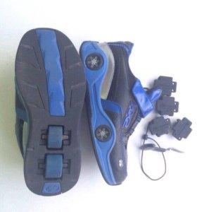 Роликовые кроссовки размер 35/36
