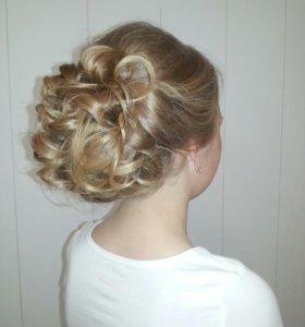 Свадебные и вечерние причёски на дом