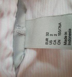 Рубашка розовая в полоску