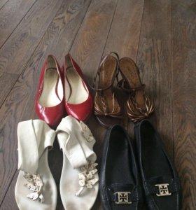 3 пары летней обуви, 35-36 размер