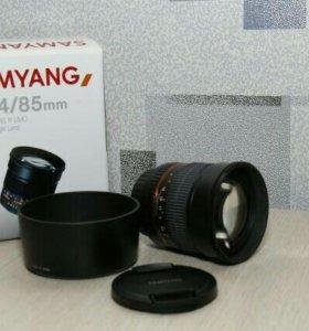 Объектив для Canon - Samyang F 1.4/85mm