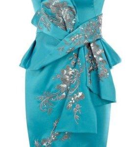 Платье Karen Millen, бирюзовое 10 U. K., оригинал