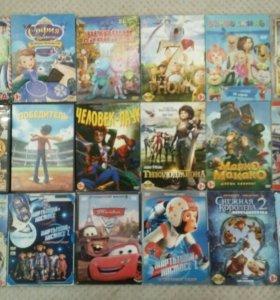 DVD диски,лицензия,мультфильмы,б/у.