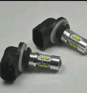 Новые противотуманки h27w LED + подарок