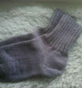 Вязаные носочки из🐏шерсти, мягкие, ручная работа.
