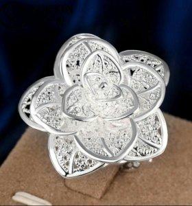 кольцо посеребряное