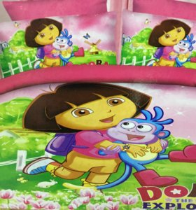 Детское постельное белье для девочки - Сатин 1.5сп