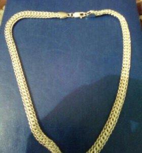 Серебреный браслет и цепочка