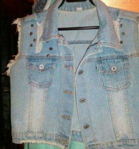 Жилетка джинсовая, новая