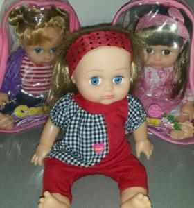 Кукла Соня в рюкзачке