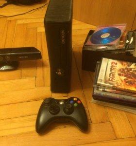 Xbox 360+Kinect +полно игр
