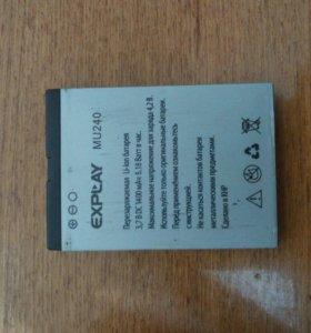 Аккумулятор explay mu240