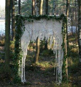 Свадебная арка макраме, аренда