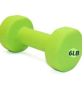 Гантели для фитнеса обрезиненные 6LB - 3,0кг