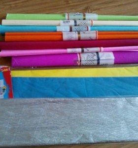 Цветная крепированная бумага