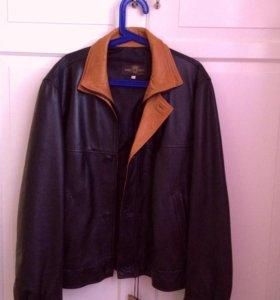 Новая кожаная куртка мужская Италия