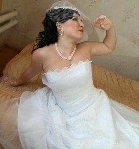 Свадебное платье кружевное