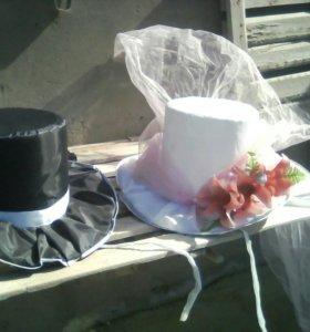 2 Свадебные шляпы на автомобиль