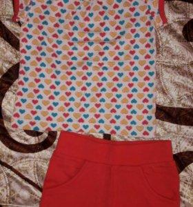 Новый Летний костюм для девочки