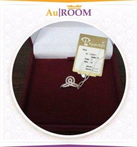 Серебряное кольцо с фианитами 17 размер 1,9 гр