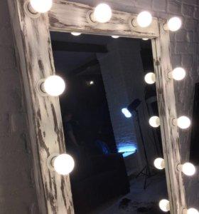 Гримерное зеркало/зеркало с лампочками Loft