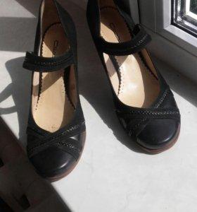 Туфли 37 размер. Натуральная замша.
